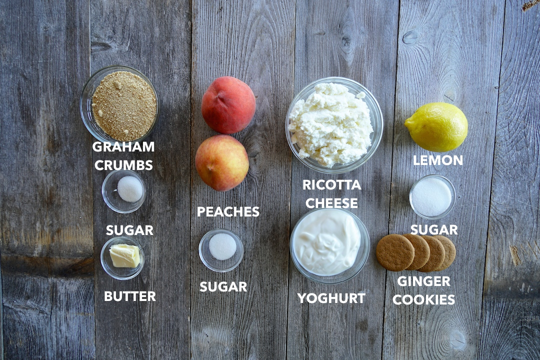 Ingredients for Peach Cheesecake Parfait
