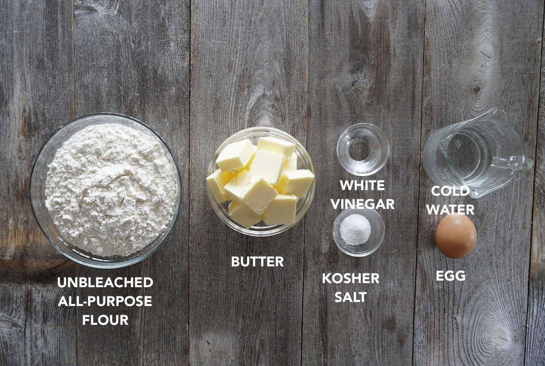 Ingredients for an All-Butter Pie Crust