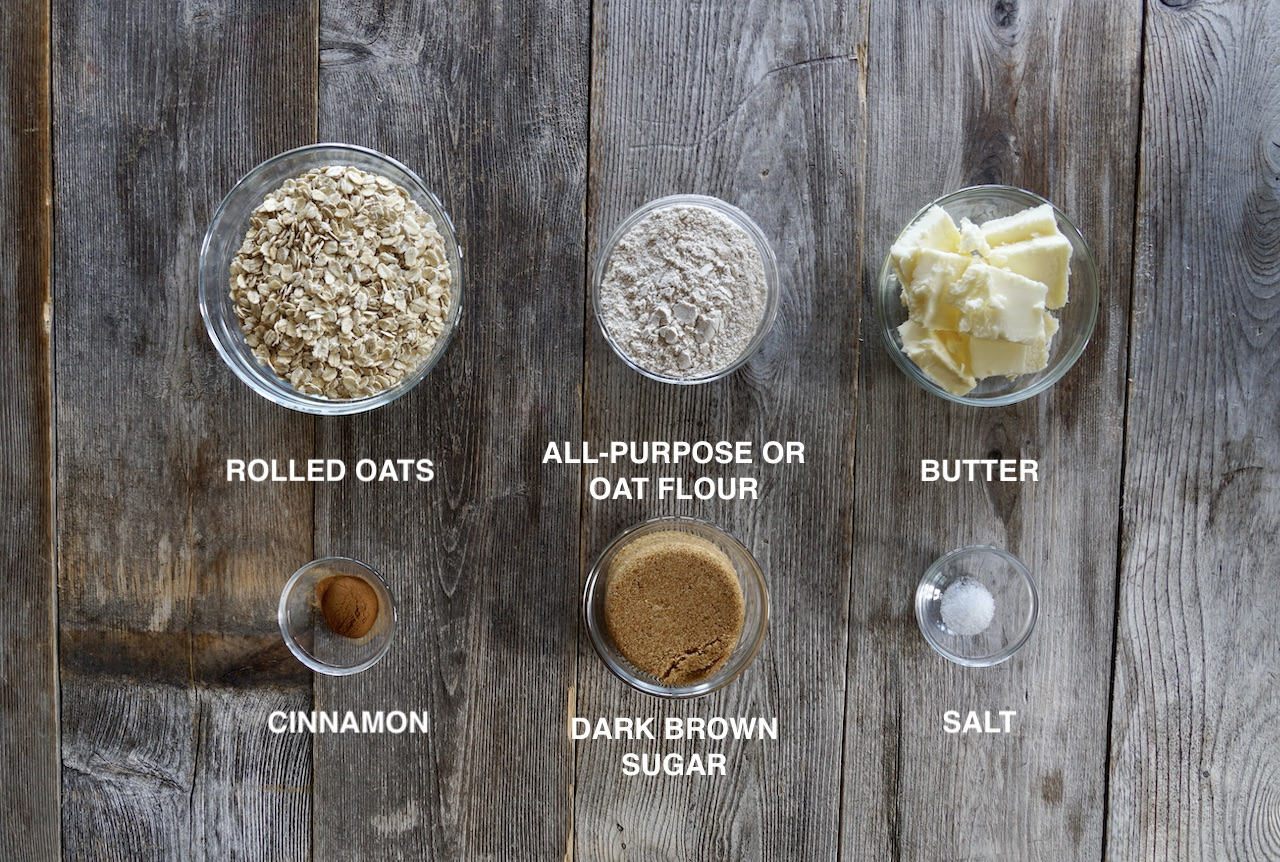 Ingredients for the topping