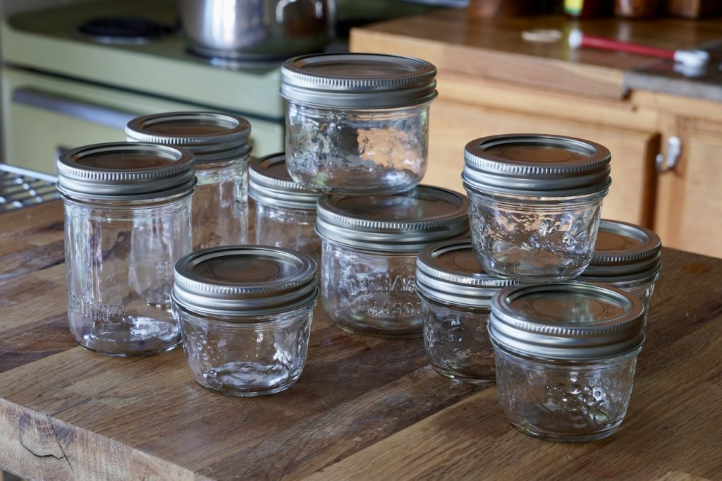 Home canning jars