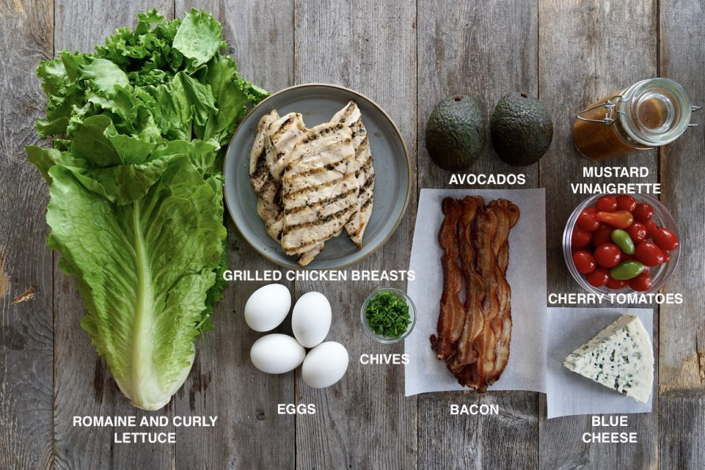 Ingredients for a Classic Cobb Salad