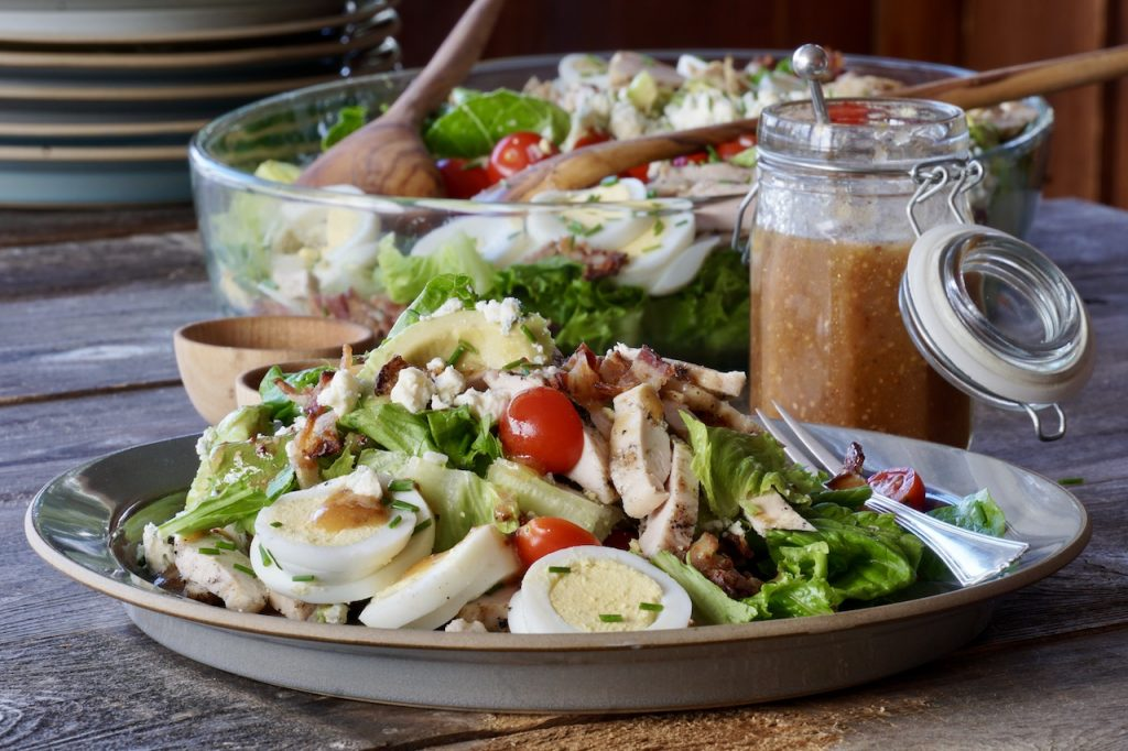 A plate of the Cobb Salad served for lunch