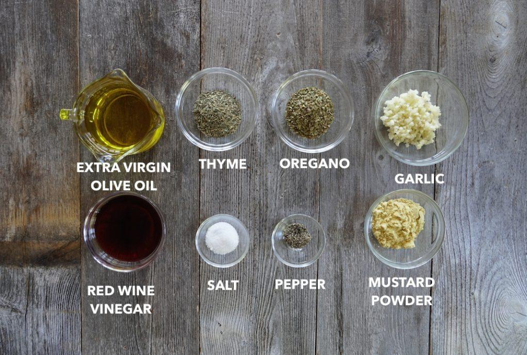 Ingredients for Homemade Italian Dressing