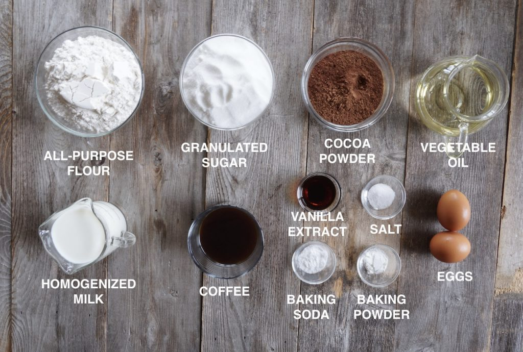 Ingredients for Easy Chocolate Slab Recipe
