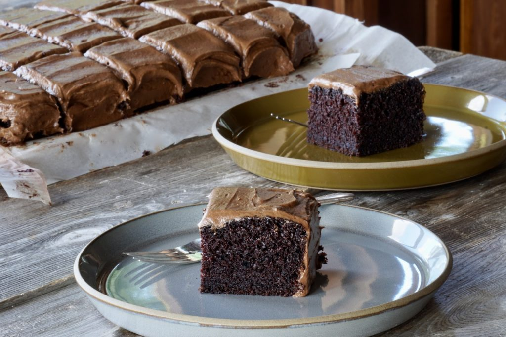 Moist and tender homemade Easy Chocolate Slab recipe