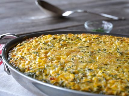 Freshly baked Classic Corn Pudding