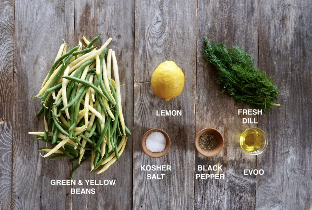 Ingredients for Easy Bean Side Dish
