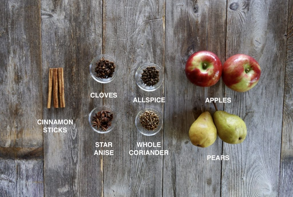Spices and fruit for Fall Punch