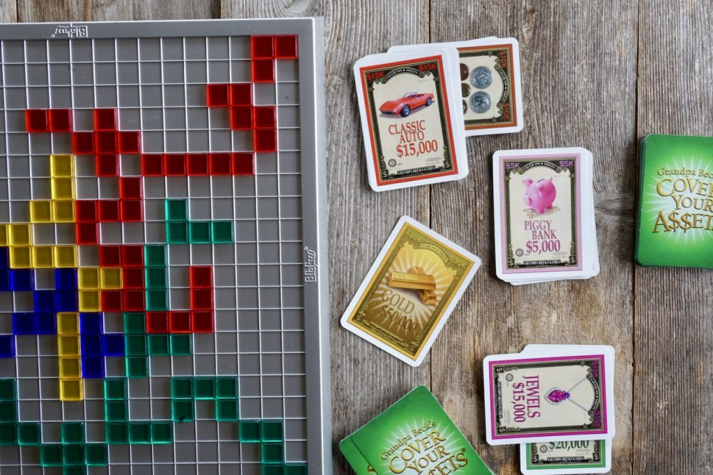 Blokus and Cover Your Assets
