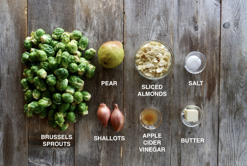 Ingredients for Sautéed Brussels Sprouts