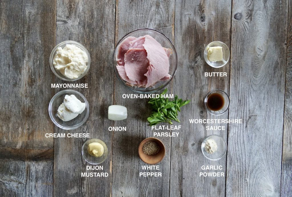 Ingredients for Deviled Ham Spread