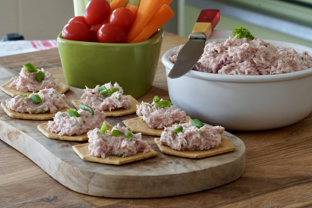 Deviled Ham Spread used to create small cocktail snacks