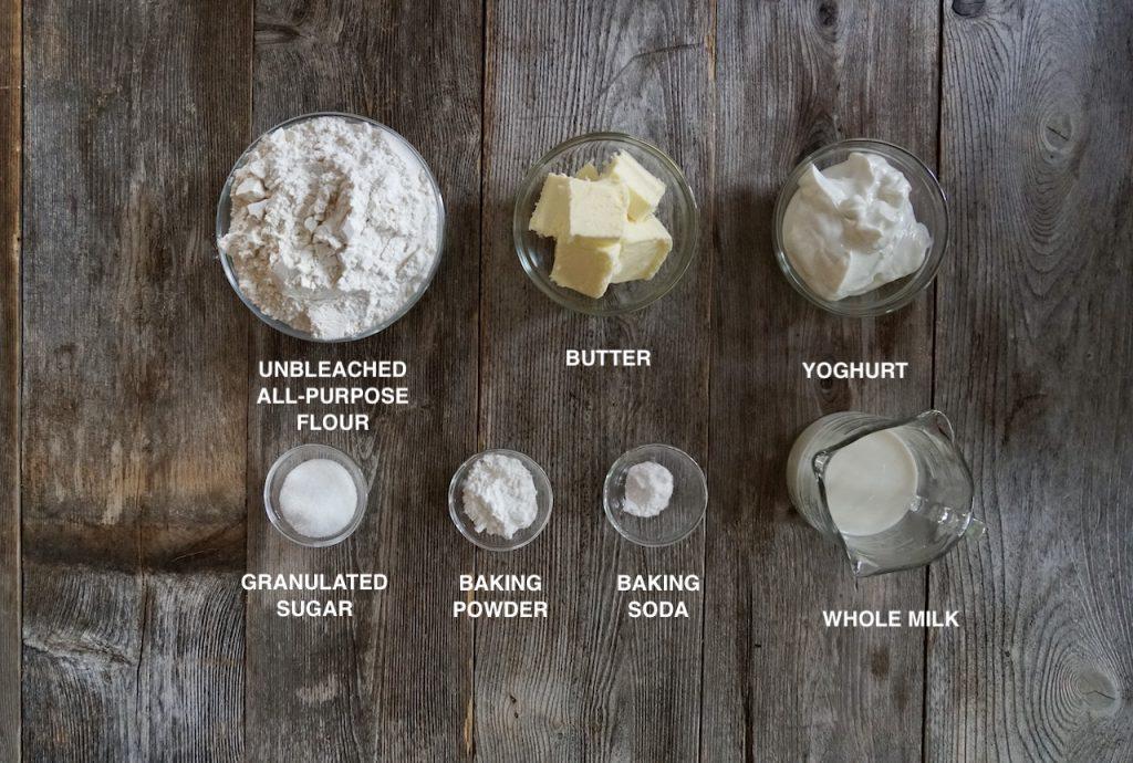 Ingredeints for Flaky Tea Biscuits Recipe