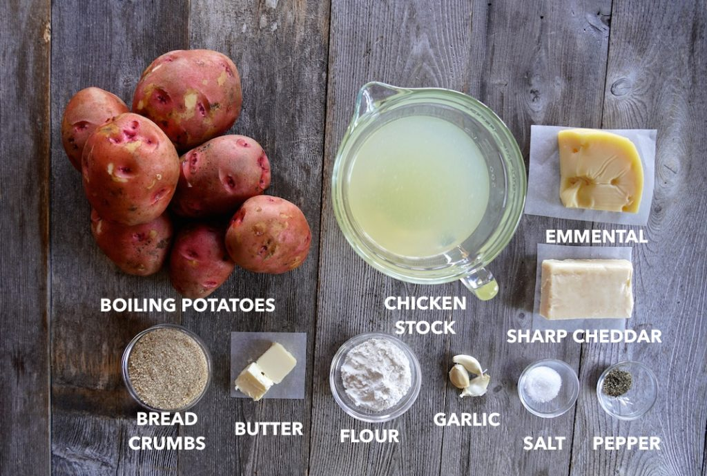 Ingredients for Creamy Scalloped Potatoes