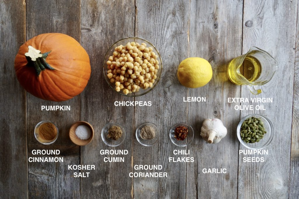 Ingredients for Roasted Pumpkin Hummus