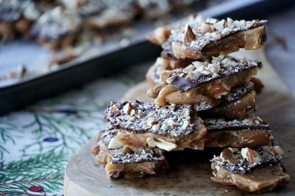 The Chocolate-Almond Toffee Bark