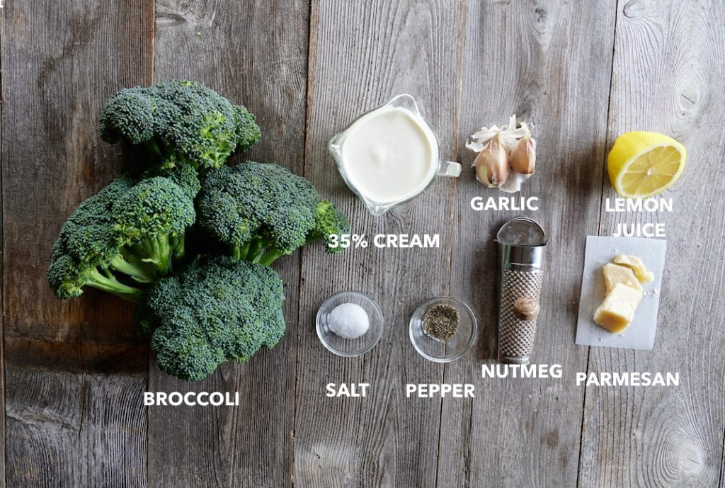 Ingredients for Creamy Mashed Broccoli