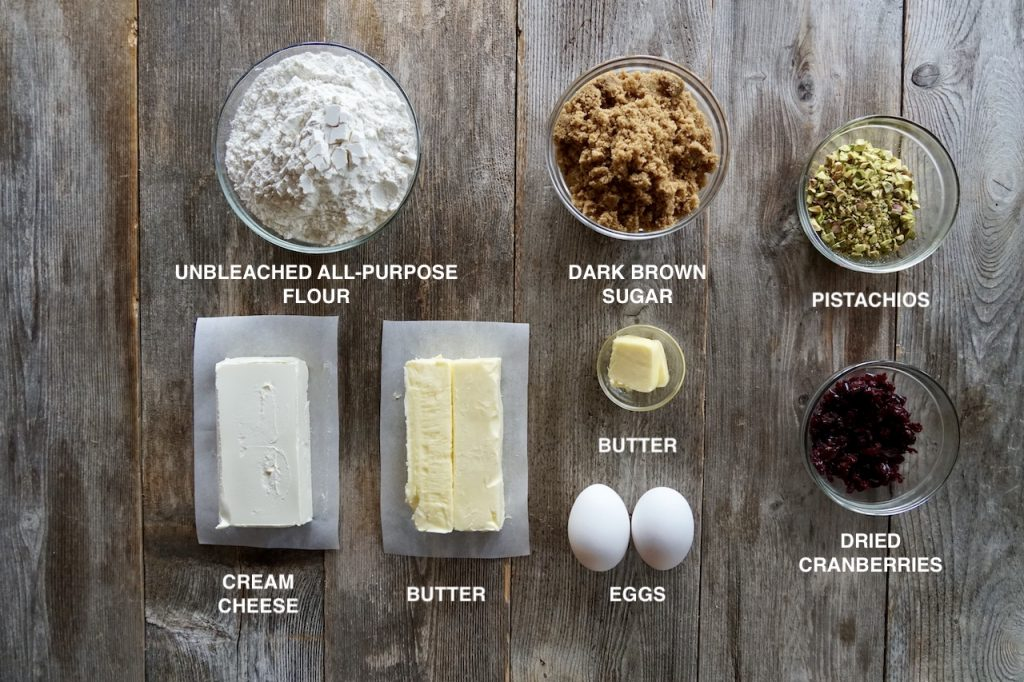 Ingredients for Mini Fruit and Nut Tarts