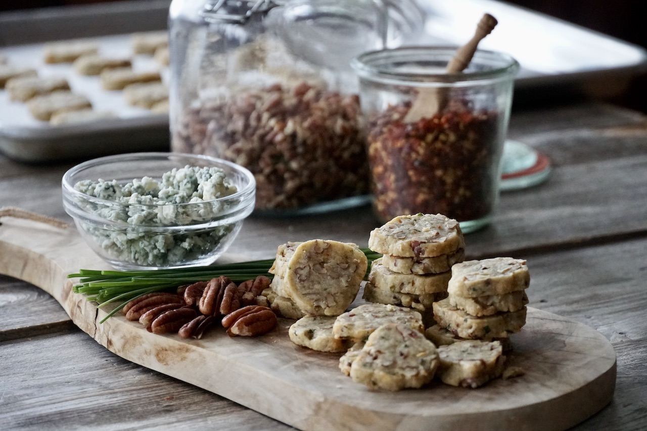 Blue Cheese and Pecan Shortbreads