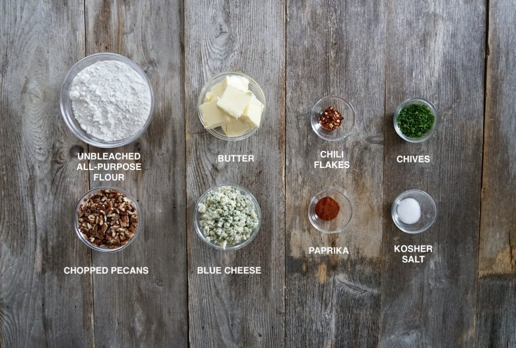 Ingredients for Blue Cheese and Pecan Shortbreads