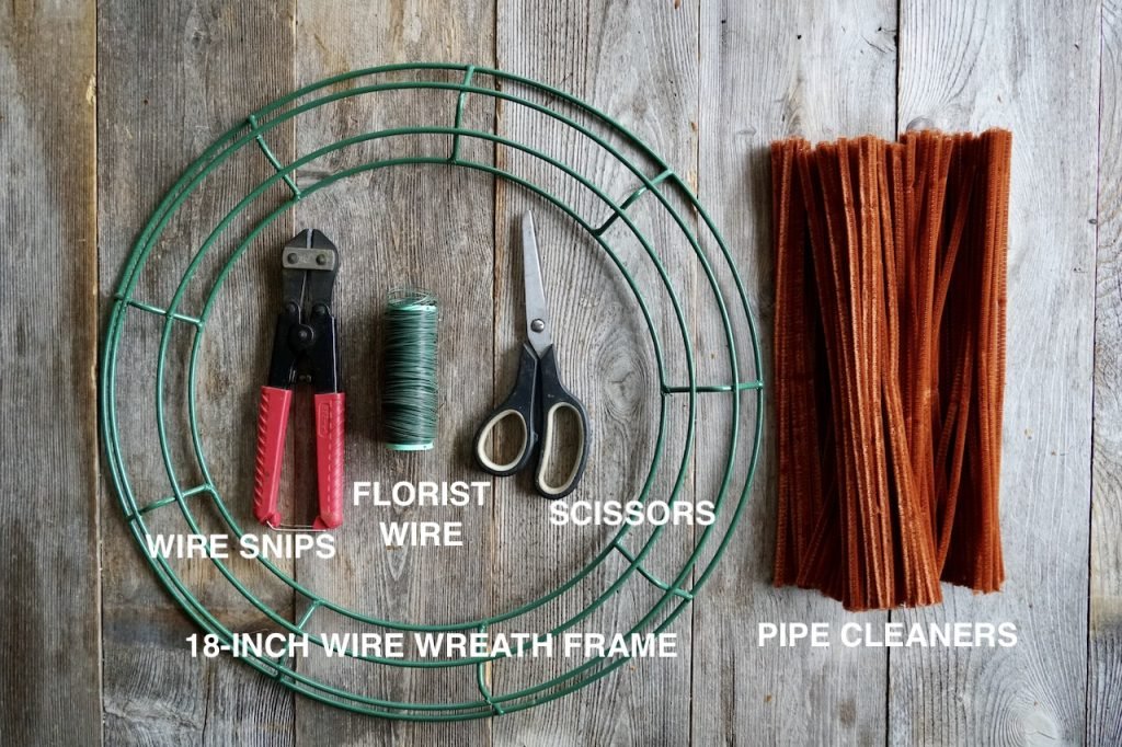 Tools you'll need to make the wreath