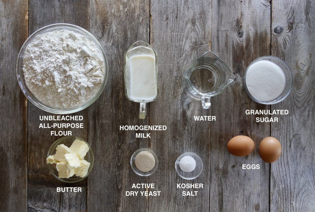 Ingredients for yeast dough
