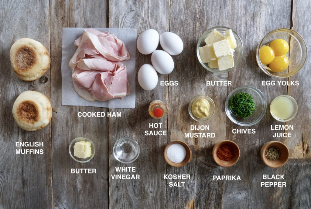 Ingredients for Easy Eggs Benedict