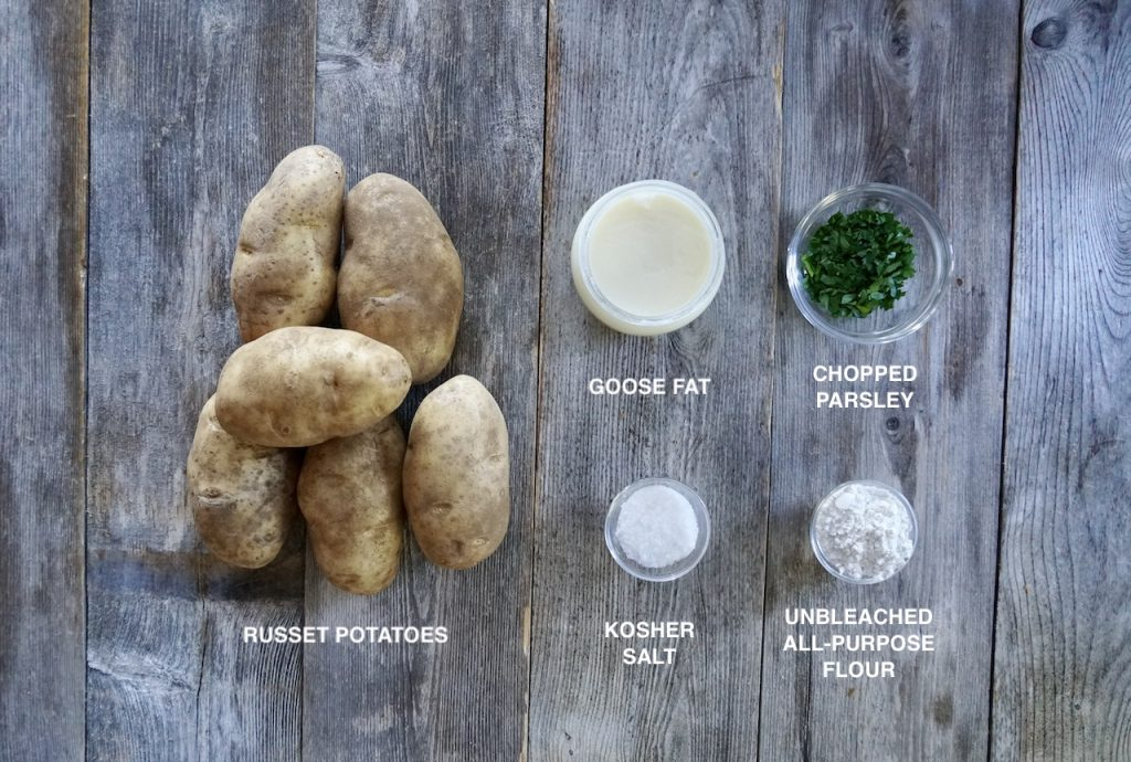 Ingredients for Goose Fat-Roasted Potatoes