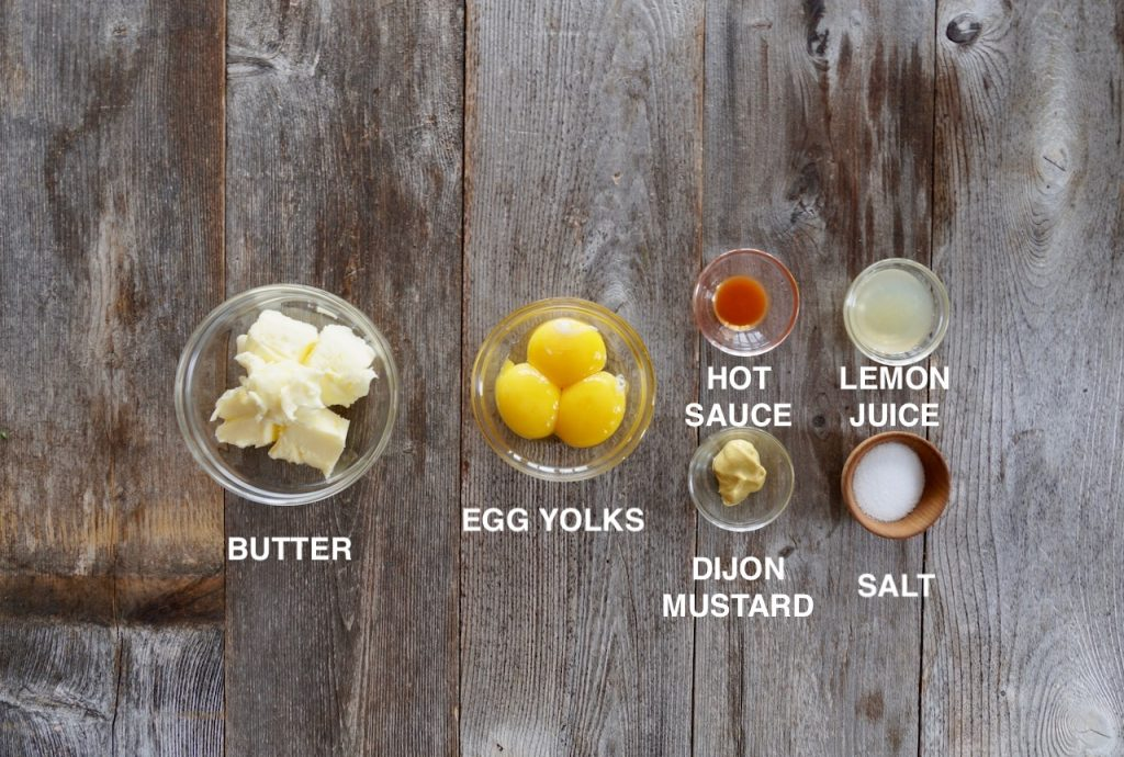 Ingredients for the hollandaise hack