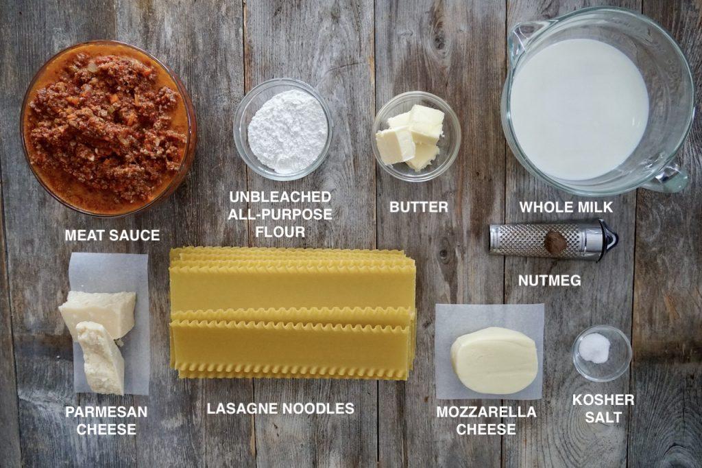 Ingredients for Best Meat Lasagna