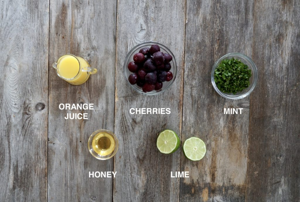 Ingredients for the Cherry Mojito Dressing