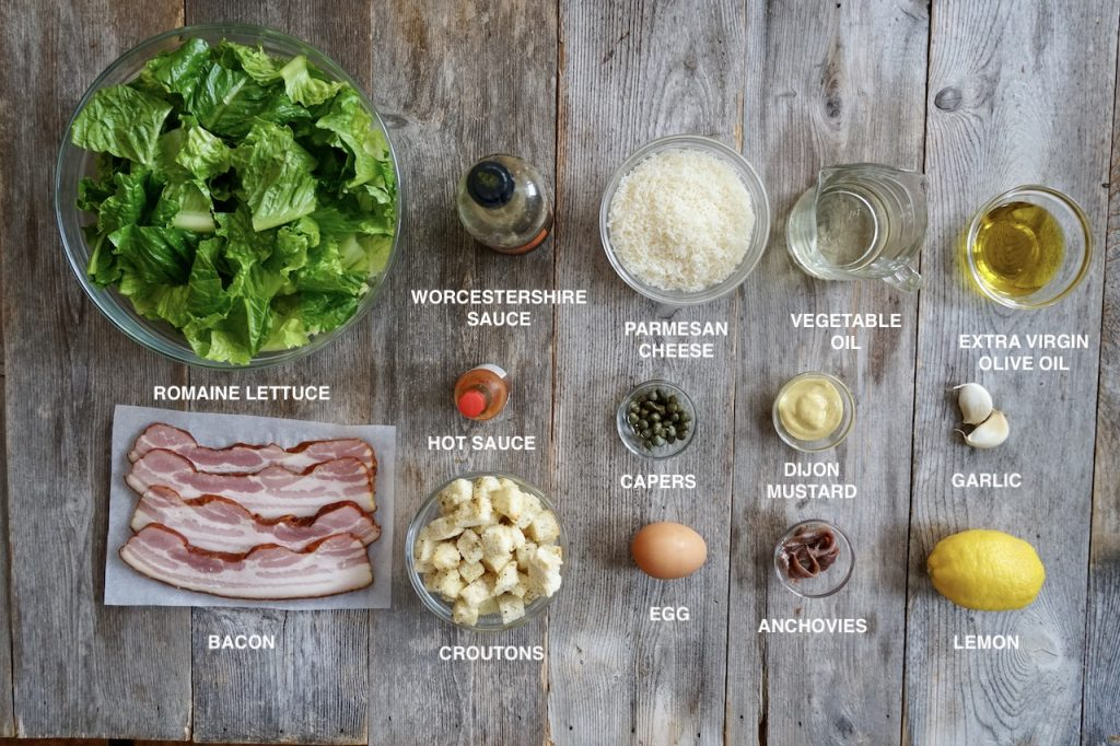 Ingredients for Homemade Caesar Salad Recipe