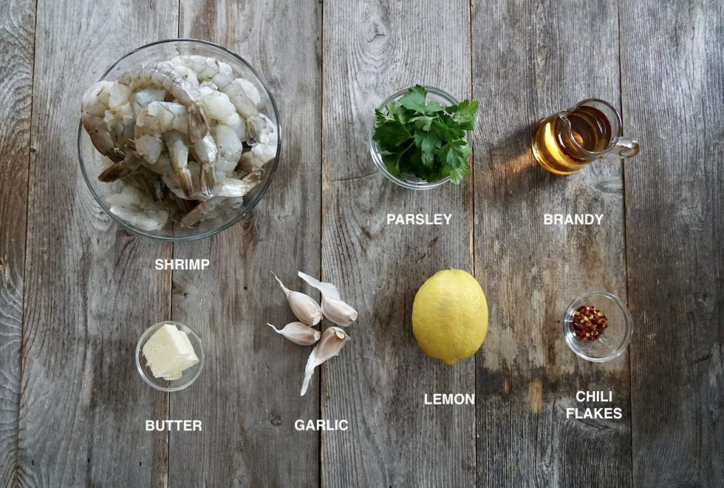 Ingredients for Lemon Garlic Butter Shrimp
