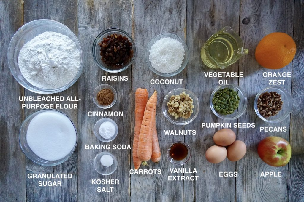 Ingredients for Morning Glory Muffins