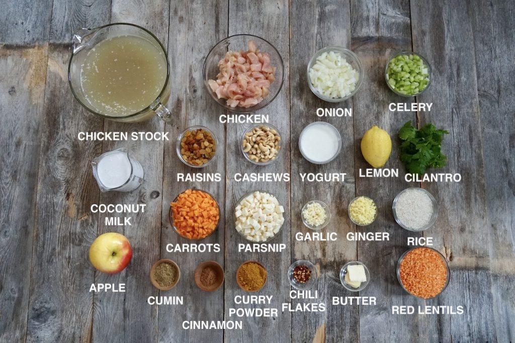 Ingredients for Mulligatawny Soup