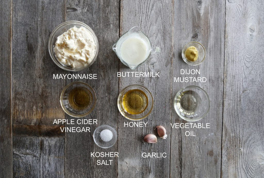 Ingredients for Creamy Buttermilk Dressing