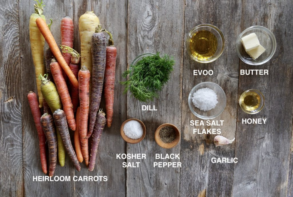 Ingredients for Honey-Garlic Carrots