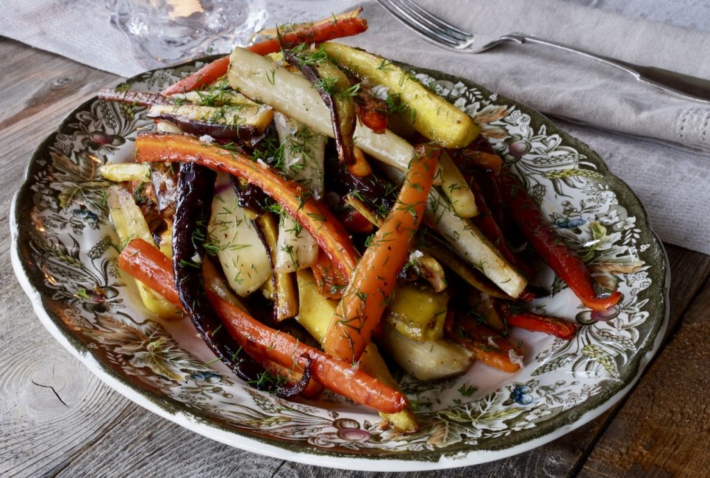 A platter of Honey-Garlic Carrots