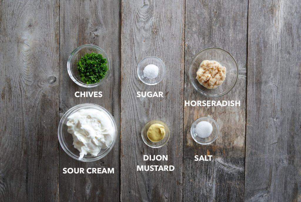 Ingredients for Creamy Horseradish Sauce