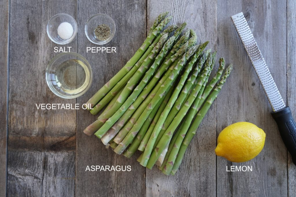 Ingredients for Oven-Roasted Asparagus