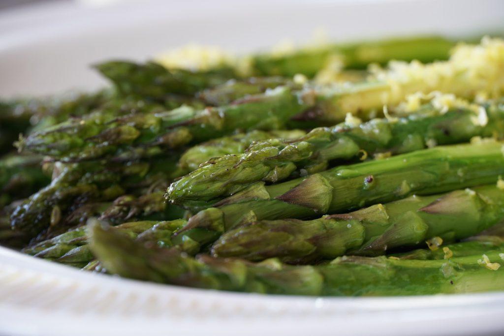 Roasted Asparagus with lemon zest
