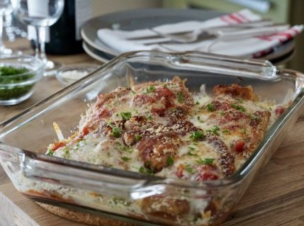 Chicken Parmigiana Recipe fresh out of the oven
