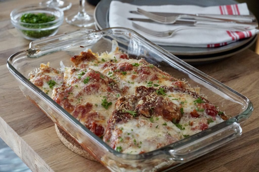 Chicken Parm Recipe ready to be served