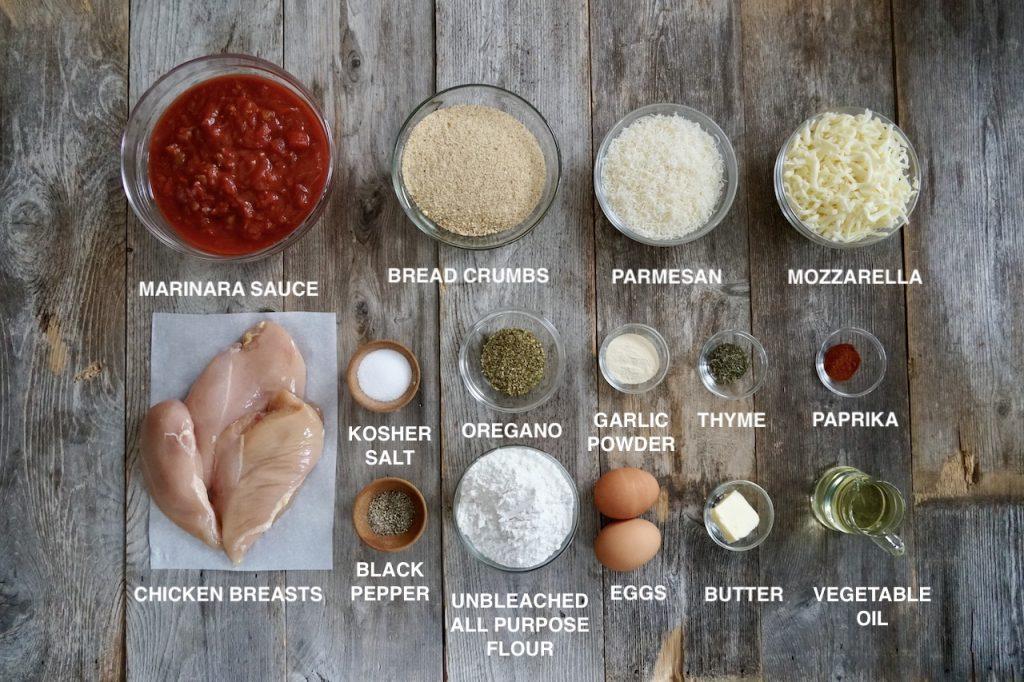 Ingredients for Chicken Parmigiana Recipe