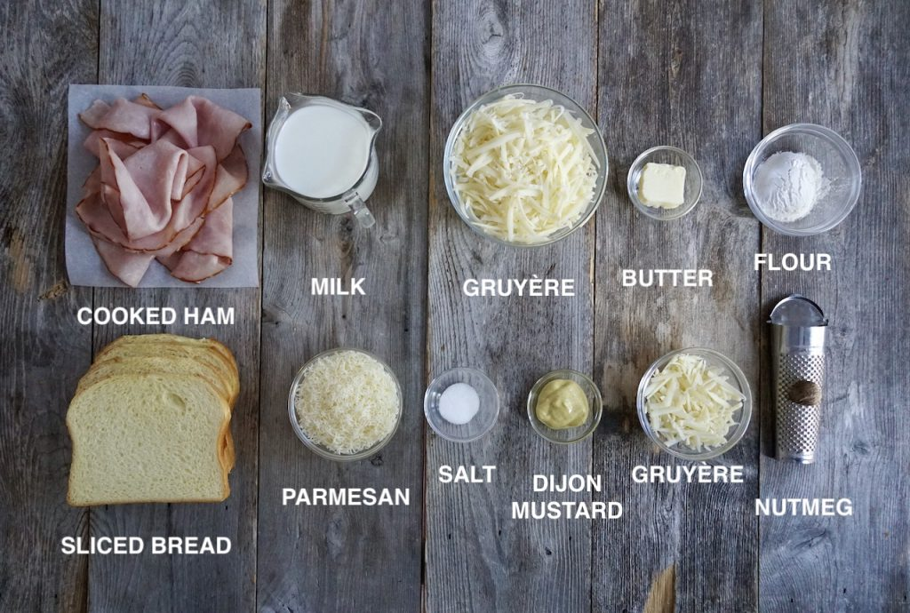 Ingredients for Croque Monsieur
