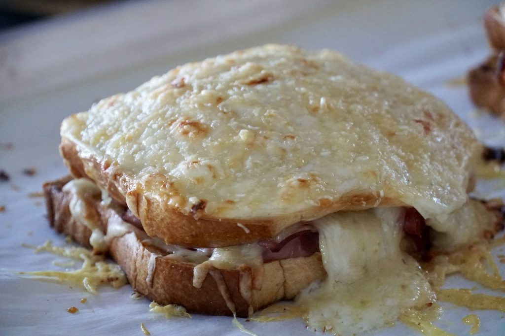 Croque Monsieur fresh out of the oven