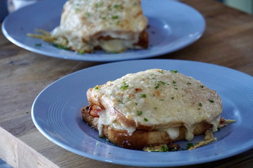 Croque Monsieur served for lunch