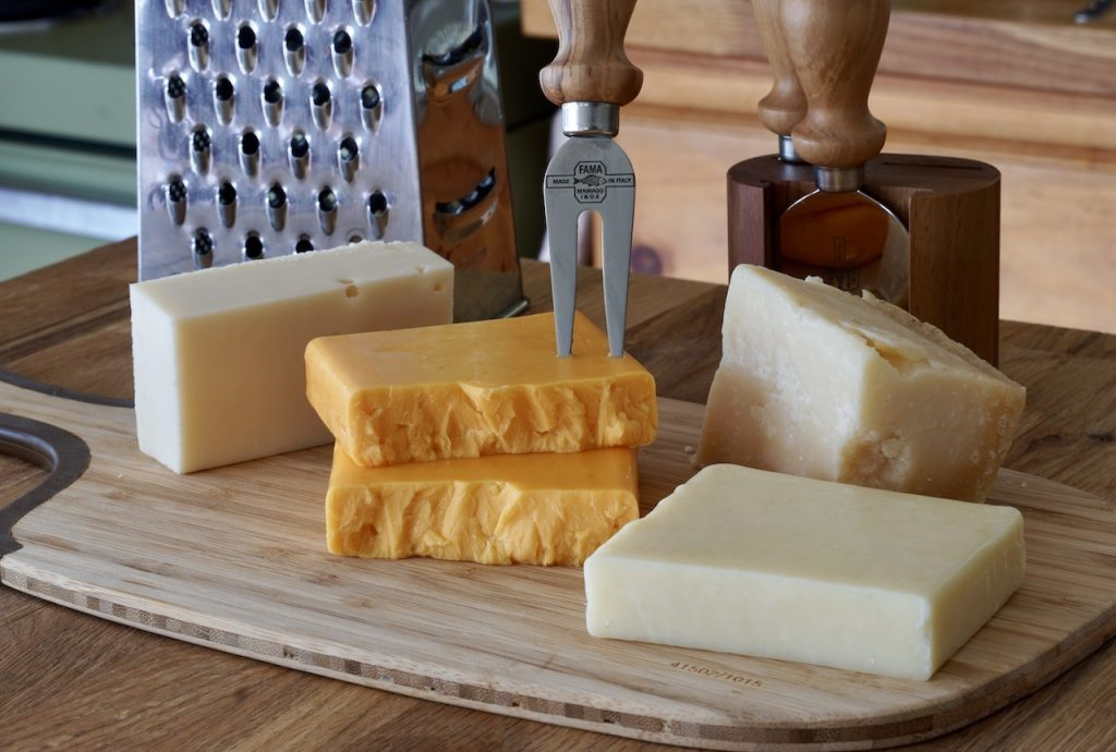 Assorted cheese all of which can be used in a mornay