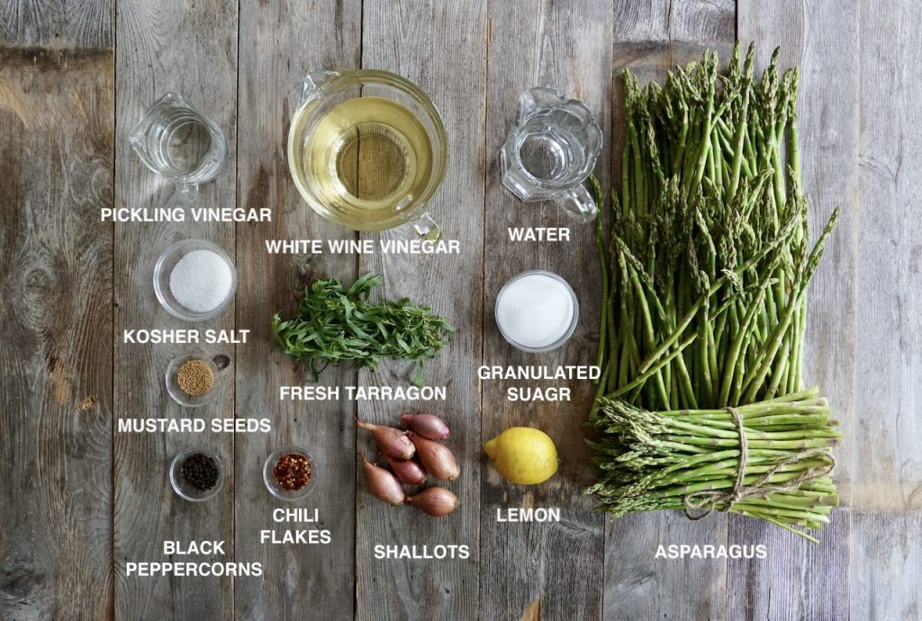 Ingredients for Small-batch Pickled Asparagus