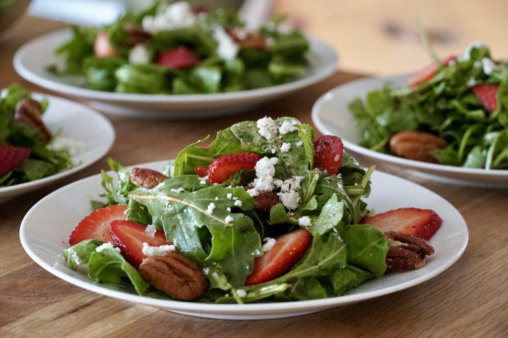 Baby Arugula and Strawberry Salad